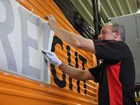 Rail Decals and Liveries: Self adhesive vinyl graphics